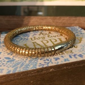 Endless gold leather bracelet by J LO 8.0 inches